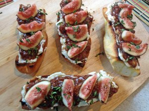 Ooohh, this was so good! Figs light sweetness is wonderful in combination with the flavors of ricotta, pecans, honey, and thyme.